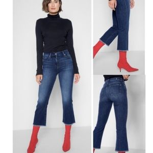 7 For All Mankind Cropped Ali Flare with Raw Hem